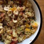 Recette de taboulé citron noisettes avec raisins secs ou baies de goji
